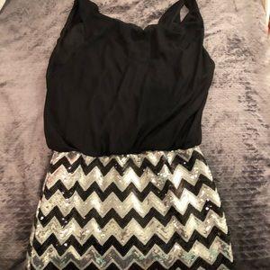 As U Wish Black Sequin Dress